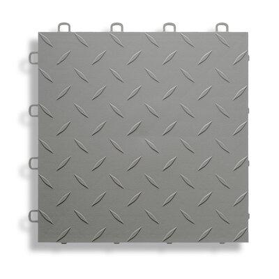12 x 12  Garage Flooring Tile in Grey