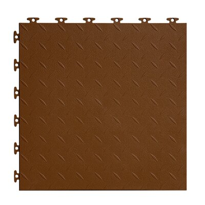 18 x 18  Multi-Purpose Flexible PVC Diamond Pattern in Brown
