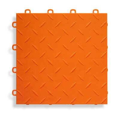 12 x 12  Garage Flooring Tile in Orange