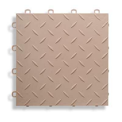 12 x 12  Garage Flooring Tile in Beige