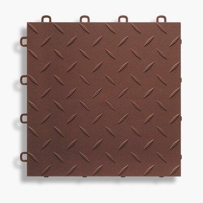 12 x 12  Garage Flooring Tile in Brown