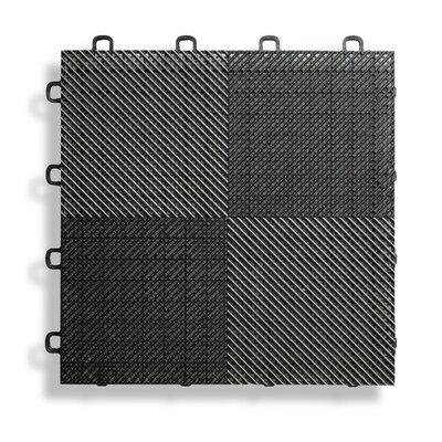 12 x 12  Deck and Patio Flooring Tile in Black