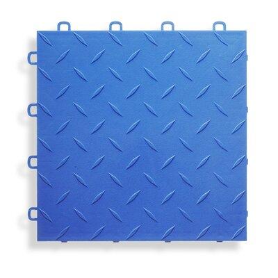 12 x 12  Garage Flooring Tile in Royal Blue