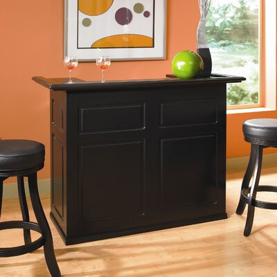 Trenton Bar with Wine Storage Finish: Black