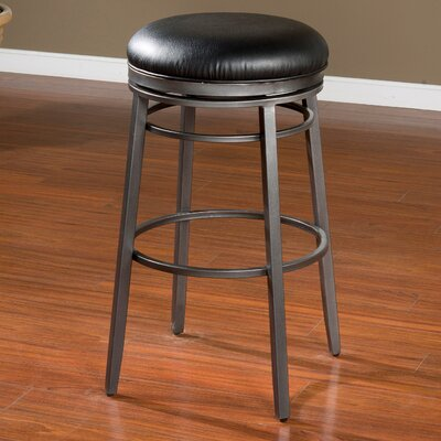 Silvano 26 Quot Quot Swivel Bar Stool Finish Flint
