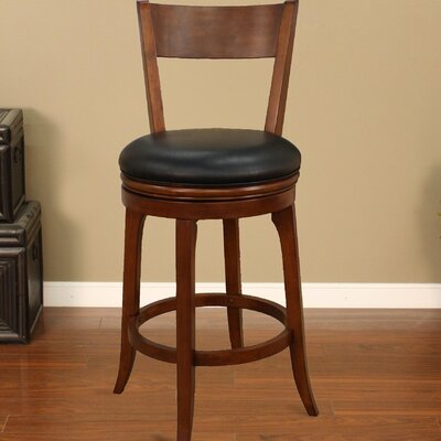 30 inch Swivel Bar Stool (Set of 2) Upholstery: Suede with Black Vinyl