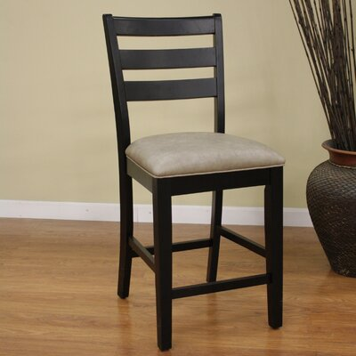 24 Bar Stool (Set of 2) Finish: Black