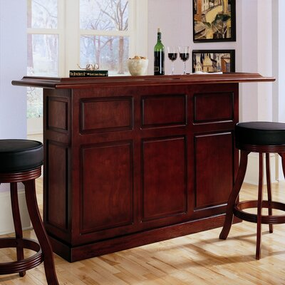 Lexington Bar with Wine Storage Finish: English Tudor