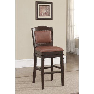 Artesian 26 Swivel Bar Stool Upholstery: Crimson