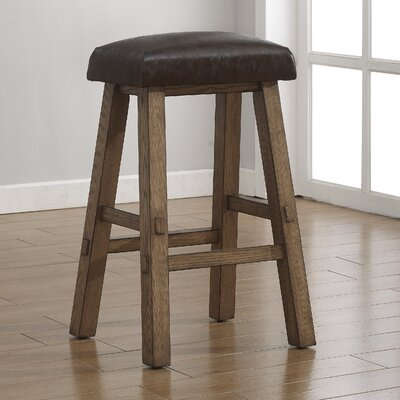Saddle 30 Bar Stool Upholstery: Latte