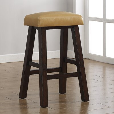 Saddle 26 Bar Stool Upholstery: Mango