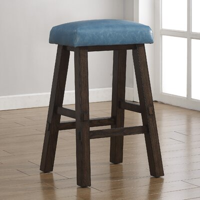 Saddle 30 Bar Stool Upholstery: Aqua