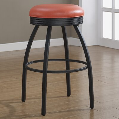 Manhattan 26 Swivel Bar Stool Upholstery: Orange