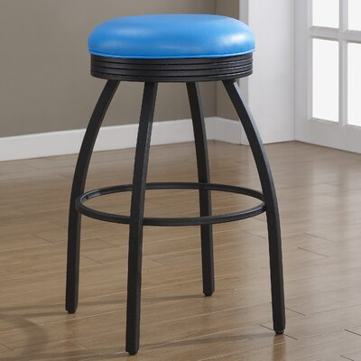 Manhattan 30 Swivel Bar Stool Upholstery: Blue