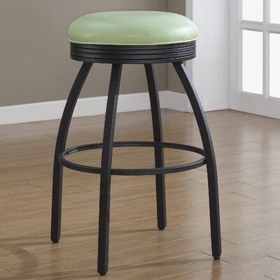 Manhattan 26 Swivel Bar Stool Upholstery: Green