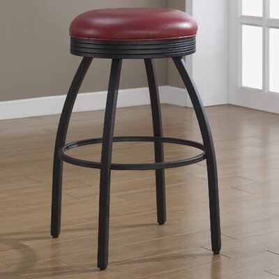 Manhattan 26 Swivel Bar Stool Upholstery: Red