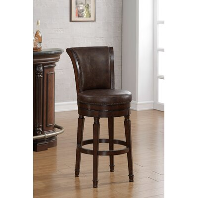 Chelsea 30 Swivel Bar Stool Upholstery: Brown