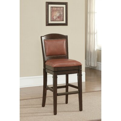 Artesian 30 Swivel Bar Stool Upholstery: Crimson
