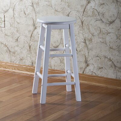 24 Bar Stool (Set of 2) Upholstery: White