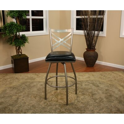 Easy financing Alexander Stool in Silver with Blac...