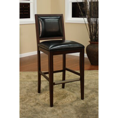 Bryant Bar Stool (Set of 2) Upholstery: Espresso with Toast