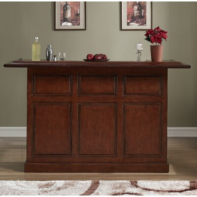 Lexington Bar with Wine Storage Color: Suede