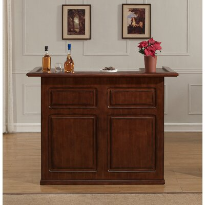 Schaub Bar with Wine Storage Color: Suede