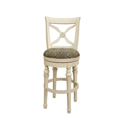 In store financing Livingston Stool in Bright White wi...