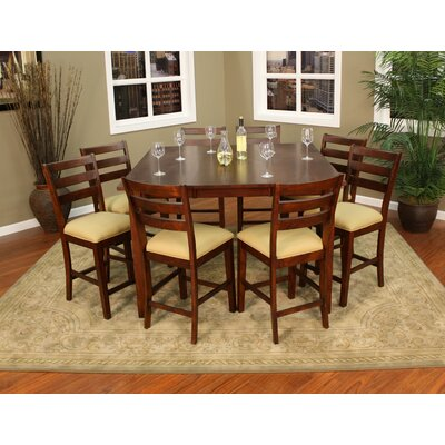 Este 9 Piece Counter Height Pub Set Finish Brown