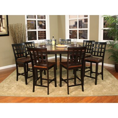 Rosetta 9 Piece Counter Height Dining Set The One Shop