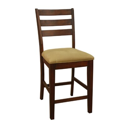 24 Bar Stool (Set of 2) Finish: Suede