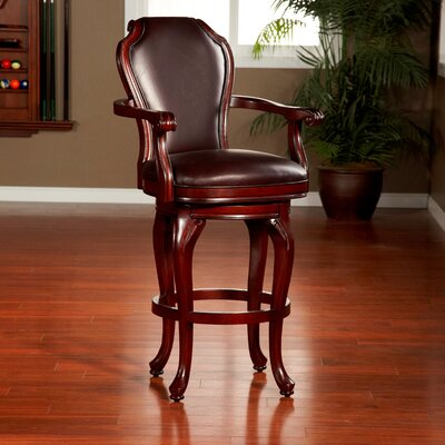 30 Swivel Bar Stool Finish: Coffee