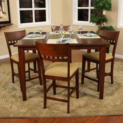 Este Butterfly Counter Height Dining Table Finish: Suede