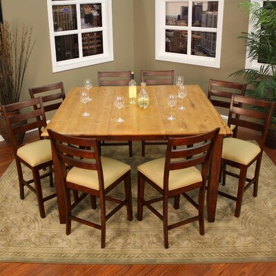 Picture Of American Heritage Andria 9 Piece Counter Height Dining Set In  Large Size