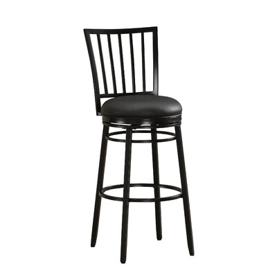 Easton 30 Swivel Bar Stool Finish: Black