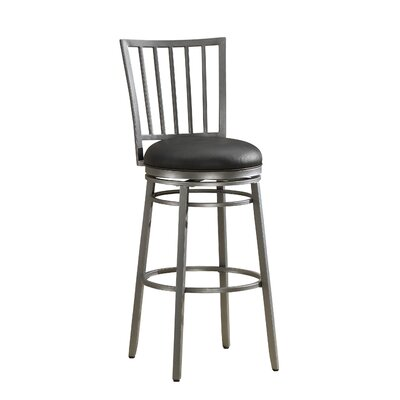 Scharff 30 Swivel Bar Stool Finish: Flint