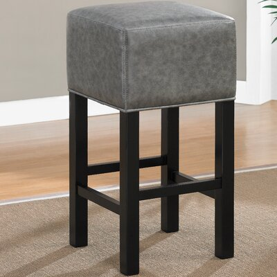 Delmar 26 Bar Stool Upholstery: Grey