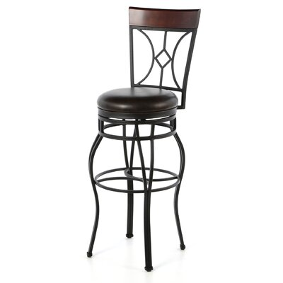 Dombroski 34 Swivel Bar Stool Finish: Graphite
