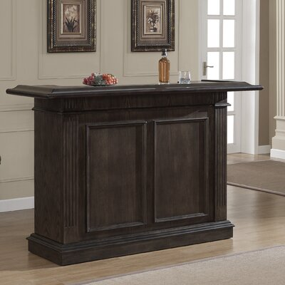 Valore Bar with Wine Storage Color: Riverbank Oak