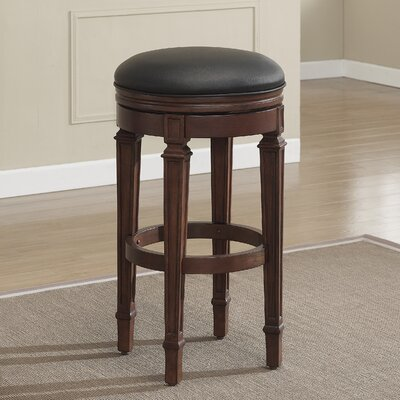 32 Swivel Bar Stool Finish: Suede