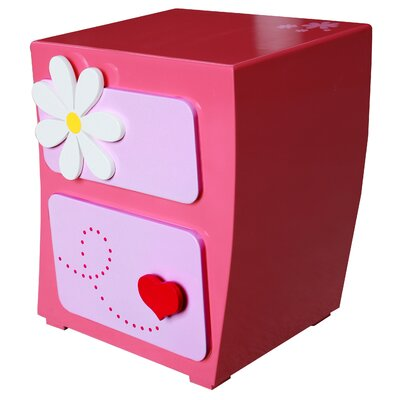 Lil Dreamer Stephanie 2 Drawer Nightstand