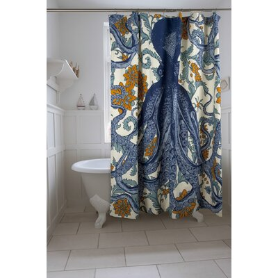 Vineyard Octopus Shower Curtain