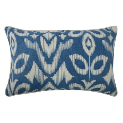 The Resort Ikat Pillow Cover Color: Azure
