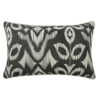 The Resort Ikat Pillow Cover Color: Charcoal