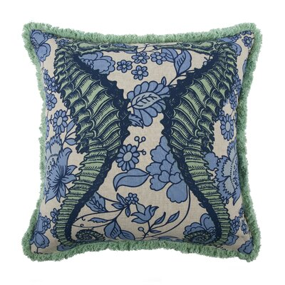 Vineyard Seahorse Flax Throw Pillow