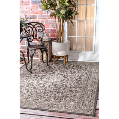 Gray/Black Indoor/Outdoor Area Rug Rug Size: Rectangle 86 x 13