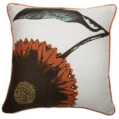 Daisy 100% Linen Throw Pillow