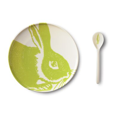 Bunny 4 Piece Dinnerware Set Color: Kiwi