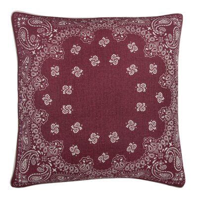 Fragments Bandana Cotton Throw Pillow Color: Ruby