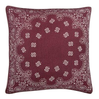 Fragments Bandana Cotton Throw Pillow Color: Ruby